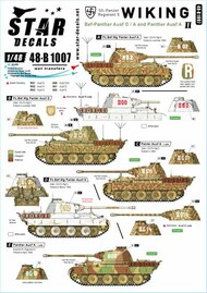 Star Decals  1/48 Wiking Part 2: Panther Ausf.A Befehls-Panther Ausf.D SRD48B1007