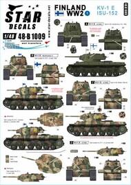 Star Decals  1/48 Finland WW2 Part 1: KV-1E ISU-152 SRD48B1009