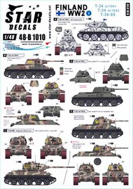 Star Decals  1/48 Finland WW2 Part 2: T-34 m/1941 T-34 m/1943 T-34-85 SRD48B1010