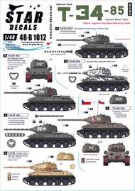 Star Decals  1/48 T-34/85 Medium Tank SRD48B1012