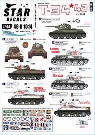 Star Decals  1/48 T-34/m 1943 Red Army SRD48B1014