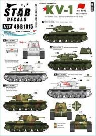 Star Decals  1/48 KV-1 m/1940 Heavy Tank SRD48B1015
