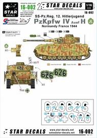 Star Decals  1/16 Pz.Kpfw.IV Ausf.H - SS-Pz.Reg. 12 HJ. HJ - Hitlerjugend, in France 1944. STAR16002