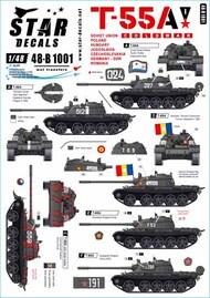 Star Decals  1/48 T-55A Tanks # 1 Cold War STAR48B1001