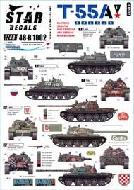 Star Decals  1/48 T-55A Tanks # 2. Balkan War STAR48B1002