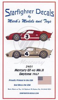 Mercury GT40 Mk II 1967 Daytona 24-Hour Race for FJM kit #SFA2401