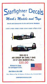 Starfighter Decals  1/350 Air Group 84 Early 1945 SFA350022