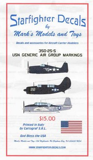 Starfighter Decals  1/350 Generic USN Air Group Markings 1944-45 SFA350025S