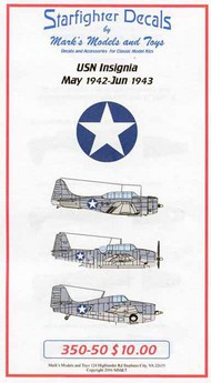 Starfighter Decals  1/350 USN Insignia May 1942 to June 1943 SFA350050