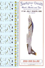 Starfighter Decals  1/350 F-14A Tomcat VF84 Jolly Rogers 1980 for TSM SFA350100