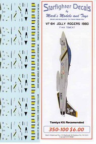 Starfighter Decals  1/350 VF-84 Jolly Rogers Operation Eagle Claw SFA350100S