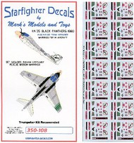 Starfighter Decals  1/350 A6E/KA60 Tram Intruder VA35 Sq. Black Panthers 1980-81 & Iranian Hostage Rescue Mission for TSM (D)<!-- _Disc_ --> SFA350108