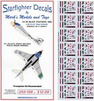 Starfighter Decals  1/350 VA-35 Black Panthers Grumman A-6E TRAM 1980 SFA350108S