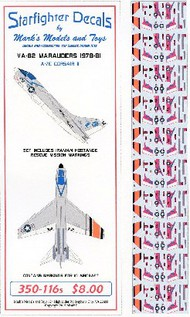 Starfighter Decals  1/350 A7E Corsair II VA82 Marauders 1978-81 & Iranian Hostage Rescue Mission (D)<!-- _Disc_ --> SFA350116