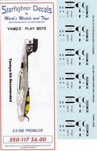 Starfighter Decals  1/350 VMAQ-2 USS Nimitz CVW-8 1981. SFA350117S