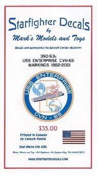 Starfighter Decals  1/350 USS Enterprise CVN-65 1982-01 for TAM SFA35053
