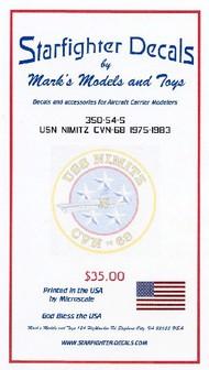 Starfighter Decals  1/350 USS Nimitz CVN68 1975-1983 SFA35054