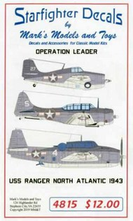 USS Ranger Aircraft Operation Leader North Atlantic 1943 #SFA4815