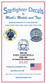 Starfighter Decals  1/500 USS Shangri-La 1958-1991 Essex Class for RMX SFA500100