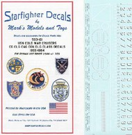 Starfighter Decals  1/500 USN Cold War Cruisers CG, CLG, CAG, CGN, DLG Class 1955-1994 for RMX SFA500101
