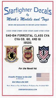 Starfighter Decals  1/350-1/720 USS Forrestal Class CVA59/60/61 1950s for RVL SFA540104