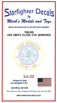 Starfighter Decals  1/700 USS Nimitz Class CVN68 for TSM SFA700100