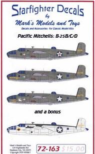 B-25B B-25C B-25D Mitchell 'Pacific Mitchells' #SFA72163