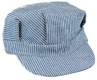 STEVENS HATS   N/A Blue/White Adult Size Engineer Cap w/Adjustable Strap HAT51