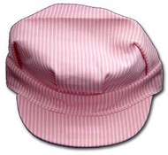 STEVENS HATS   N/A Pink/White Adult Size Engineer Cap w/Adjustable Strap HAT8