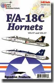 Super Scale Decals  1/48 F/A-18C Hornets SSI481225
