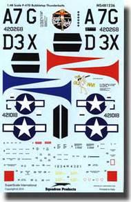 Super Scale Decals  1/48 P-47D Bubbletops 368th FG SSI481236