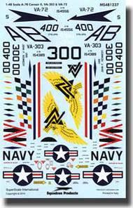 Super Scale Decals  1/48 USN A-7B Corsair IIs VA-303/VA-72 SSI481237