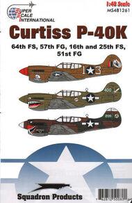 Super Scale Decals  1/48 Curtiss P-40K Warhawks: P-40K-5 'Death on Win SSI481261