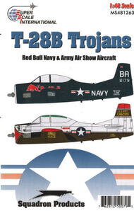 Super Scale Decals  1/48 T-28B Trojans Navy and Army Show Birds SSI481263