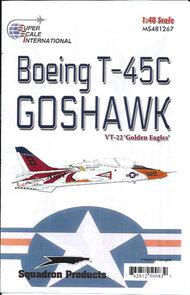 Super Scale Decals  1/48 T-45C Goshawk VT-22 'Golden Eagles' SSI481267
