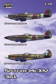 Supermarine Spitfire Mk.XIV 3 kits in 1 set #SRT72133