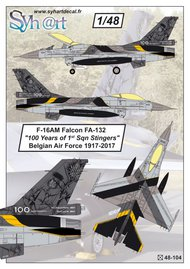 Lockheed-Martin F-16AM Falcon FA-132 '100 Years #SY48104