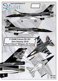 F-16AM Falcon FA-101 'Solo Display 2018 - Dark Falcon ' Belgian Air Force #SY48110