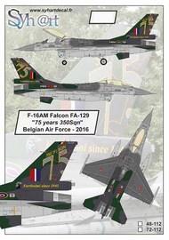 General-Dynamics F-16AM Falcon FA-129 '75 years 350Sqn' Belgian Air Force #SY48112