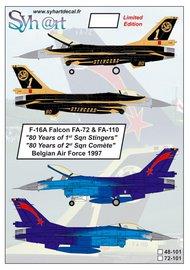 General-Dynamics F-16A Falcon FA-72 & FA-110 80 Years #SY72101