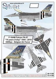 The General-Dynamics F-16AM Falcon FA-57, flown by 350th Fighter Squadron #SY72113B