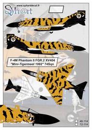 McDonnell F-4M Phantom II FGR.2 XV404 'Tigermeet 1992' 74Sqn #SY72114