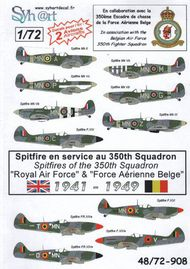 Supermarine Spitfire in service with the 350th Squadron Royal Air Force and Belgian Force Aerienne Belge. #SY72908