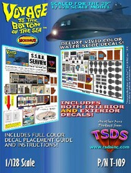 TSDS  1/128 Seaview Submarine Decal Set for MOE TDS109