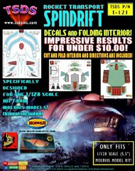 TSDS  1/128 Land of the Giants Spindrift Decal Set & Color Fold-Up Interior for MOE TDS121