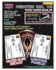 TSDS  1/32 Battlestar Galactica Mk VII Fighter Decal Set & Lighting Panel for MOE TDS125