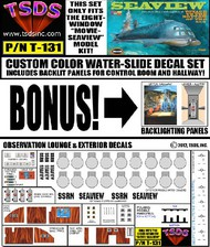 TSDS  1/128 Seaview 8-Window Submarine Movie Version Decal Set for MOE TDS131