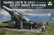 Takom  1/35 Skoda 42cm M1917 Heavy Siege Howitzer Gun w/Erich von Manstein Figure TAO2018