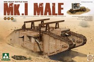 Takom  1/35 WWI Mk I Male Heavy Battle Tank w/Crane & Flat Trailer (2 in 1) TAO2031