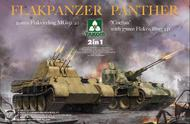 Flakpanzer Panther 20mm Flakvierling MB151/20 & Coelian w/37m Flakzwilling 341 (2 in 1) #TAO2105